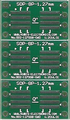 "3 PCS. - SO8,SOP8,SOIC8 1.27mm(0.05"") to DIP8 0.6"" socket. [UK]"