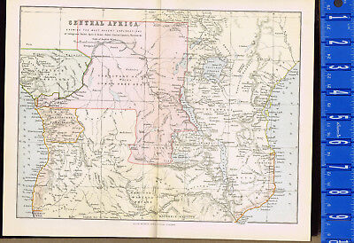 Exploratioons of CENTRAL AFRICA: 1885 Mackenzie Color Map