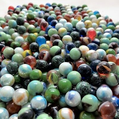 Glass Peewee Marbles 12MM Bulk Assorted Mega Lot Set of 1000