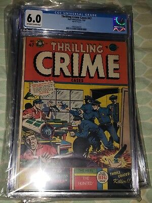 Thrilling Crime Cases #47, CGC Graded 6.5, LB Cole Cover, Golden Age