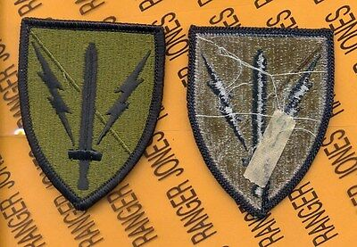 US ARMY 201ST Military Intelligence Brigade MI OD Green & Black patch m/e