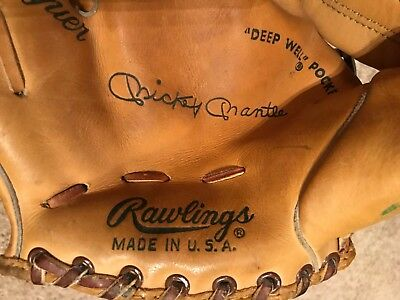 "MICKEY MANTLE  1960's?  ""BIG LEAGUER""   RAWLINGS  USA  3x MVP  HALL of FAMER"