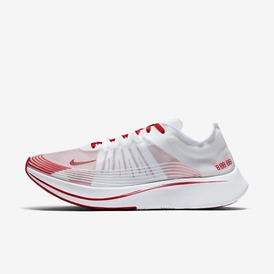 39fa8068d6cdd Nike Zoom Fly SP AJ9282-100 White University Red Men s Running Race Shoes  NEW!