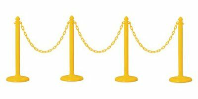 Yellow PLASTIC STANCHION - set of 4  - use with Plastic chain