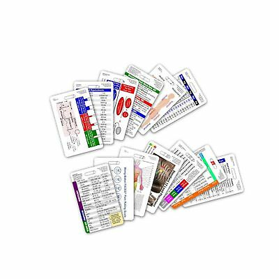 Complete Nurse RN CNA NA Vertical Badge Card Set - 13 Cards