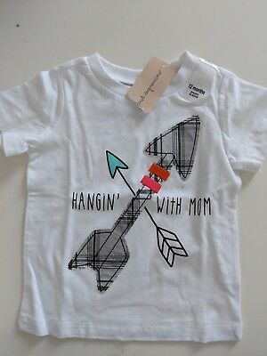 """First Impressions Baby Short Sleeve T-shirt - """"Hangin' with Mom"""" Arrows size 12M"""