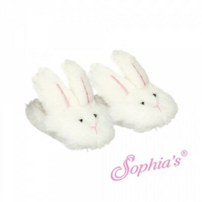"New Adorable Slip-on Fuzzy Bunny Slippers For American Girl and 18"" Dolls"