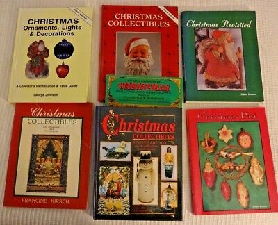 Lot of 7 Reference Books on Christmas Collectibles Vintage Price Guides