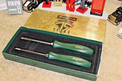 NEW Snap On 75th Anniversary Screw Drivers 1920-1995 Screwdriver Set Green- Rare