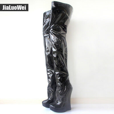 f3f8609b890  2735 RICK OWENS Runway Thigh High Sexy Tall Wedge Boots Eu 37.5 I ...