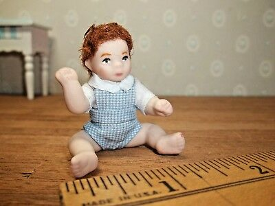 Adorable Porcelain Browned Haired Baby Boy  - Patsy Thomas -  Handcrafted