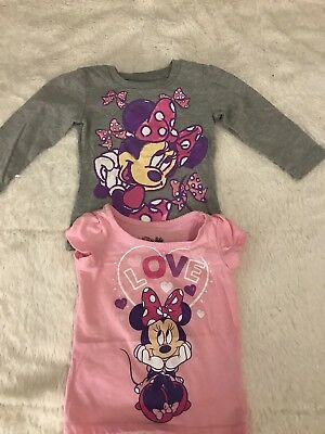 12ca1c4a3a325 Disney Minnie Mouse Girls Set of 2 Long and Short Sleeved Tops Size 12  Months