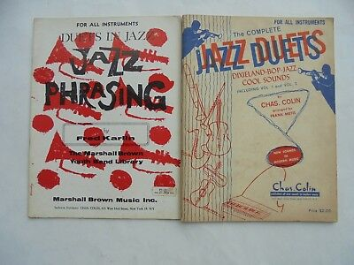 2 Lot Music Books Songbooks Song All Instruments Jazz Phrasing Duets Dixieland