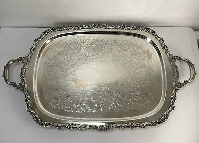 Footed Butlers Silver Tray Webster Wilcox International Silver Co