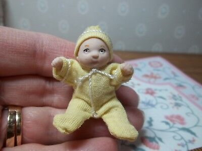 How Adorable Is This Little Baby In Yellow - Patsy Thomas -  Handcrafted
