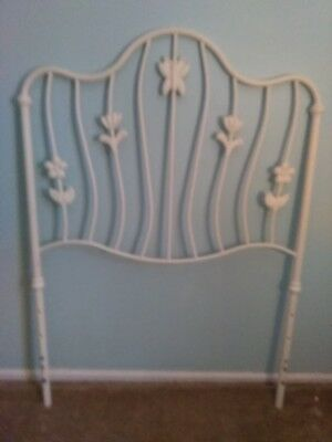 Twin Headboard, Ornate curved metal design with Butterfly & Tulip detail