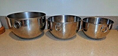 Revere Ware  Mixing Bowls Set of Three