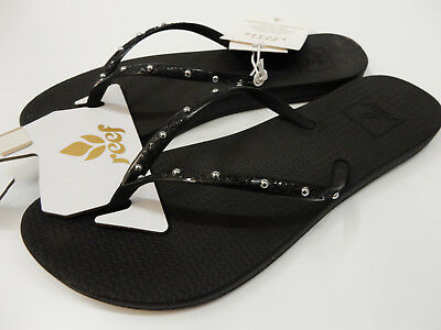 f10e629f80 REEF WOMENS ESCAPE Lux Stud Black Pewter Size 10
