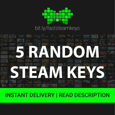 5 Random Steam Game Keys Min. Value 20€ / GLOBAL / GOOD KEYS / 24H MAX DELIVERY