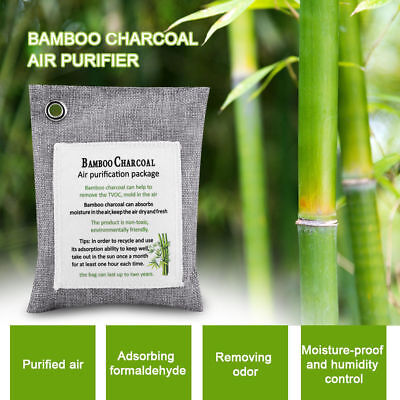 Car Home Air Purifying Freshener Bamboo Charcoal Bag Nature Odor Deodorizer