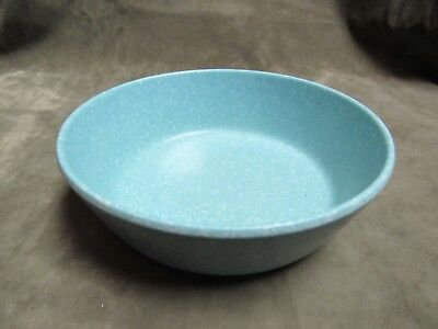 Vintage 1950's Blue White Speckled Texas Ware Melmac Plastic Cereal Bowl