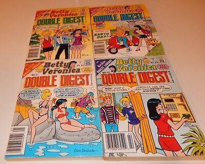 Lot of 4 Betty and Veronica Double Digest Magazine Comic Nos 21-23 25 Archie