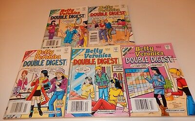 Lot of 5 Betty and Veronica Double Digest Magazine Comic Nos 111-115 Archie
