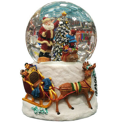 Christmas X'mas Santa Water Snow Globe Decorative Holiday Gifts with LED lights