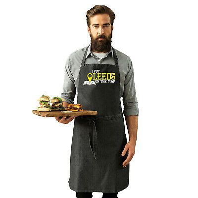 Funny Novelty Apron Kitchen Cooking - Leeds I Put On The Map