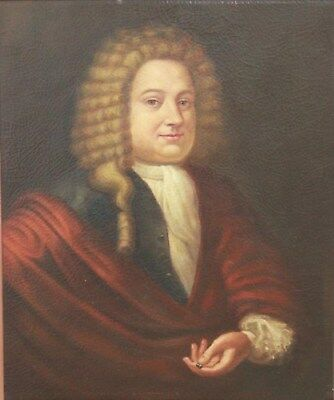 Old Master Antique 17th, 18th C Portrait Painting of a Nobleman, c 1700