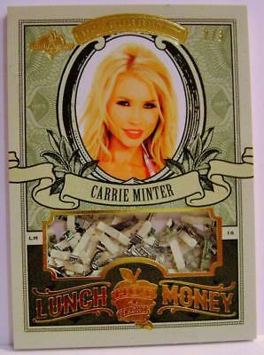 Carrie Minter Lunch Money U.s. Currency #2 /3 Hot For Teacher Bench Warmer Rare