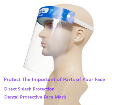 5X Dental Face Shield Direct Splash Protection Eye Dentist Disposable Protection