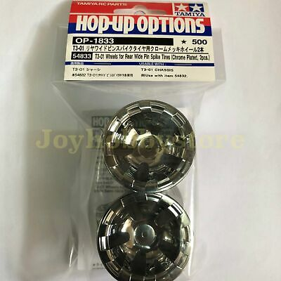 Tamiya 54833 RC REAR CHROME PLATED WHEELS For Wide Pin Spike T301 T3-01