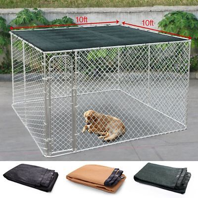 Outdoor Dog Cage Cover Pet House Sun Shade Kennel Covers Green/Black/Beige 10x10