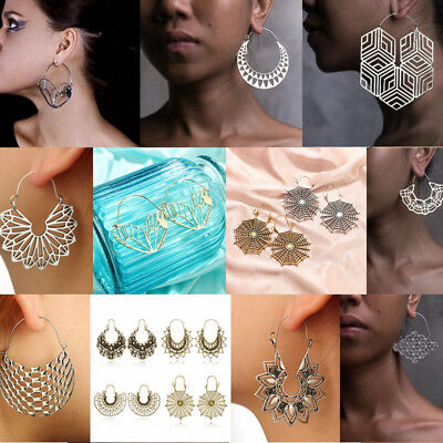 2018 Fashion Large Geometry Metal Earring Drop Dangle Earrings Women Jewelry