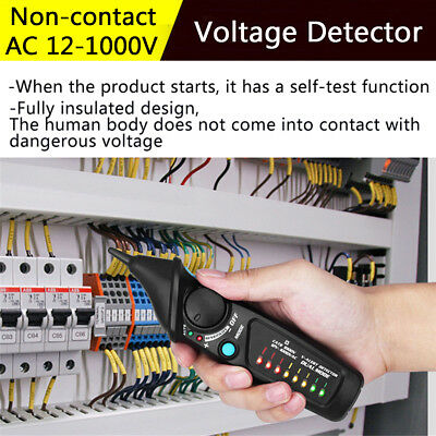LED AC Electric Voltage Detection Power Sensor Tester Non-Contact Pen 12-1000V