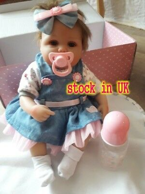 Vinyl Silicone Reborn Doll Real Life Like Looking 18'' Newborn Baby Dolls Gift