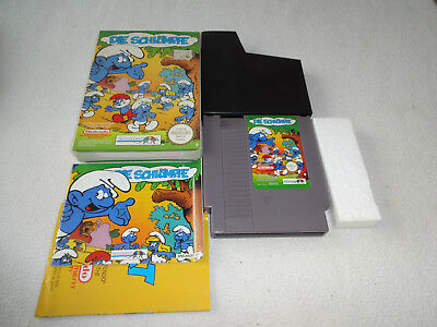The Smurfs Pal Nintendo NES Game complete with box and manual