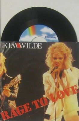 """Kim Wilde  rage to love / putty in your hands , 7"""" 45"""