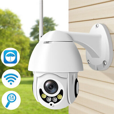 Wireless WiFi 1080P IP Camera 5x Optical Zoom PTZ Waterproof Dome Webcam Outdoor