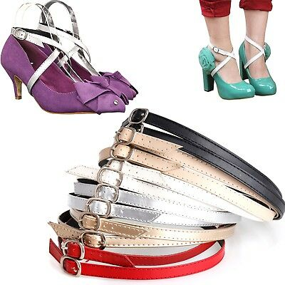 Detachable Leather Shoe Strap Band SHOELACE for Holding Loose High Heeled Shoes