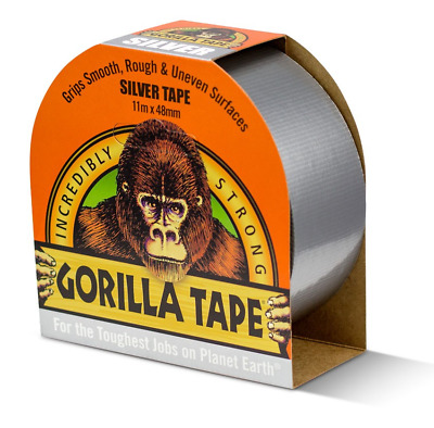Gorilla Duct Tape Duck Tape White Black Silver- Strongest Tape In The World 11M