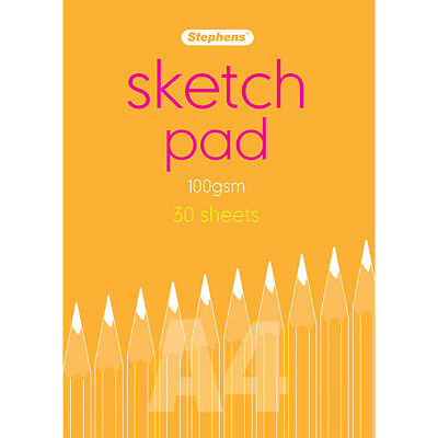 Stephens - A4 Sketch Pad, 100gsm 30 Sheets