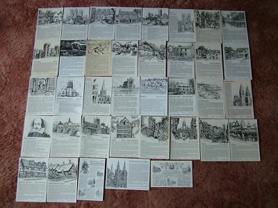 37 LOCAL HISTORY, POTTED HISTORY & SIMILAR Postcards. Mainly unused.