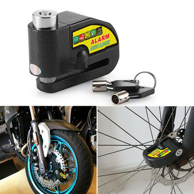Anti-theft Brake Disc Lock Alarm Security Padlock For Motorcycle Scooter Bicycle