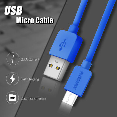 REMAX 2.1A Quick Charge Micro USB Charging Data Sync Cable Cord For Samsung LG