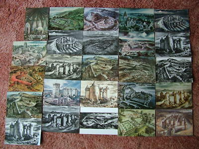 25 Mainly unused ALAN SORRELL DRAWING Postcards.