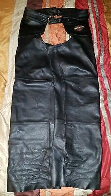 Harley Davidson Leather Motorcycle Chaps Size XL