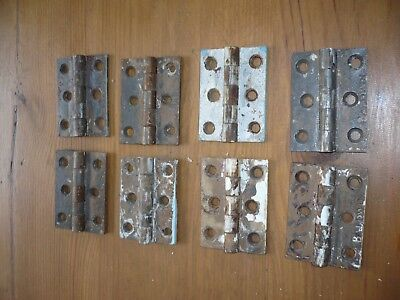 Baldwin old original reclaimed cast iron butt hinges. 2.5inches  8 hinges