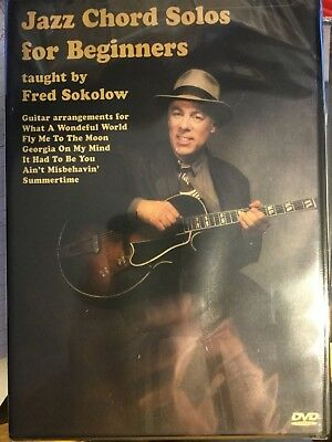 JAZZ CHORD SOLOS for Beginners - Fred Sokolow [Fingerstyle Guitar DVD]
